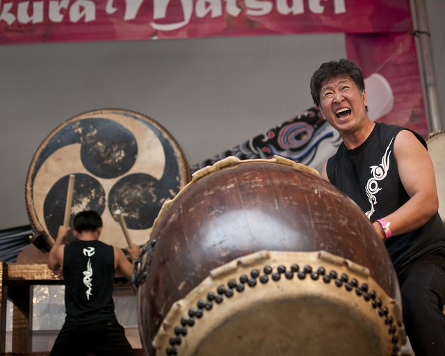 Taiko Masala at Sakura Matsuri. Photo by Mike Ratliff.
