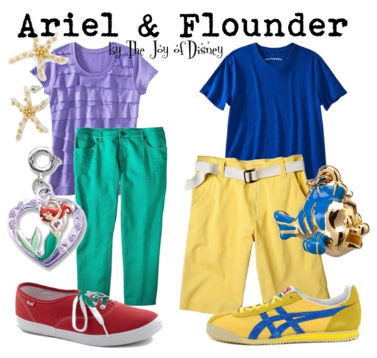 Ariel & Flounder (Little Mermaid)