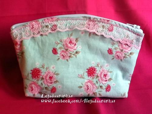Bolsa Azul com Rosas by Aninhas_lisboa