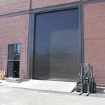 East-side roll-up door