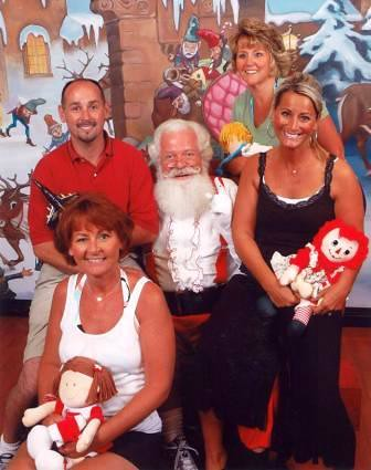 Photo with Santa in 2008