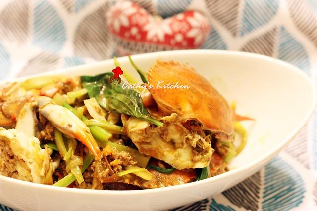 台式肉末快炒螃蟹 Crab with Minced Pork 1