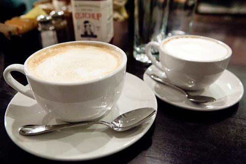 Latte and cappuccino