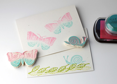 Vitamini handmade diy hand carved stamps