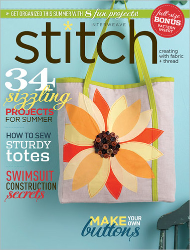My pattern made the cover of Stitch!