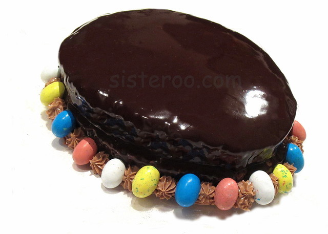 Sisteroo.com Dark Chocolate Ganache Easter Egg Cake
