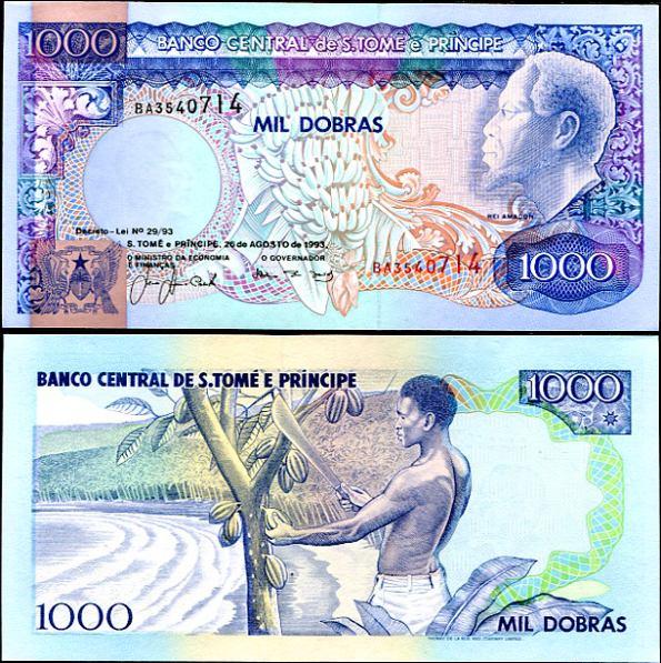 1000 Dobras Svätý Tomáš a Princov ostrov 1993, Pick 64