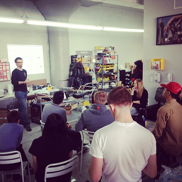 Lunch and learn in the NYC factory.