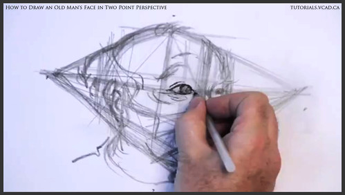 learn how to draw an old man's face in two point perspective 019