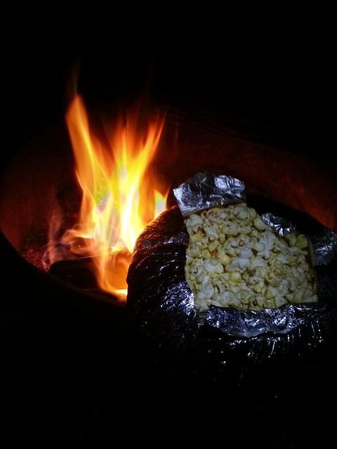 how to cook popcorn over a campfire
