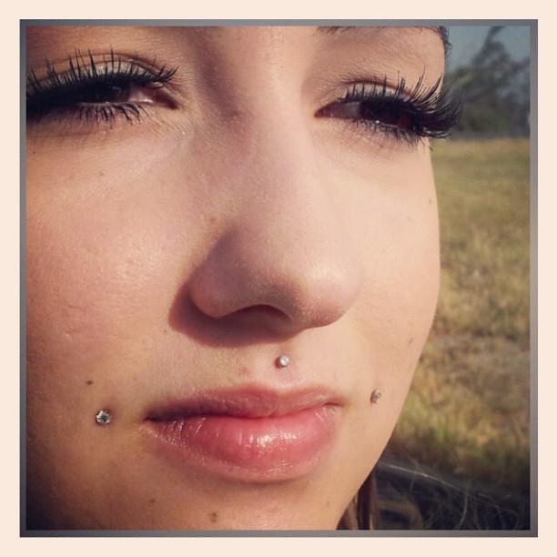 Healed cheek piercings dhalias lip piercing medusa for Plastic cheek piercing jewelry