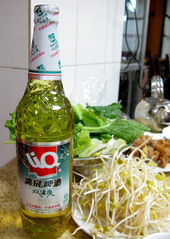 Liquan Natural 10P Beer with a Chinese dinner by Adventurocity