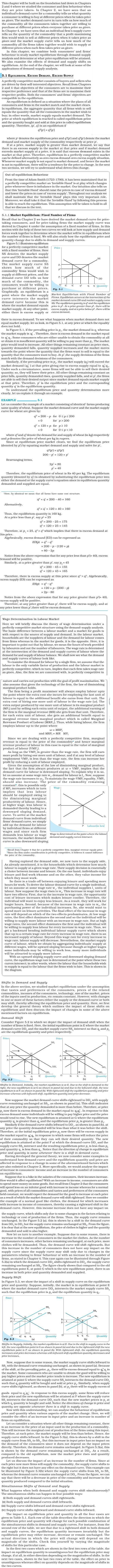 NCERT Class XII Economics Microeconomics - Market Equilibrium