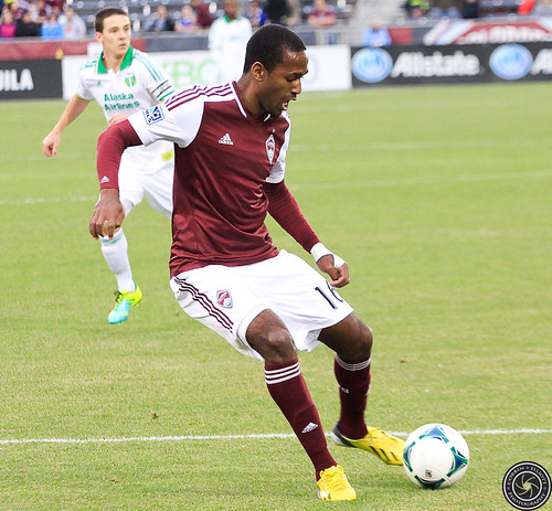 Atiba Harris, Colorado Rapids Host Portland Timbers at Dick's Sporting Goods Park Colorado by Corbin Elliott Photography