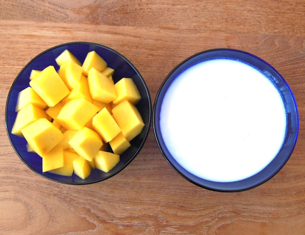 How to make super yummy fresh Mango Lassi with soy yogurt by Lia Belle