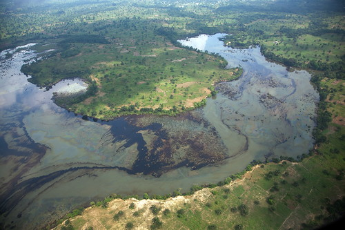 Aerial View of Oil Spill - Nigeria