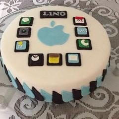 Adorei meu bolo. Valeu Mãe!!!