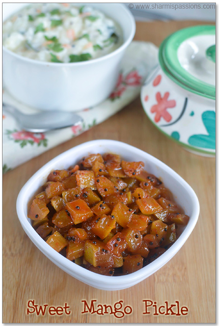 Instant Sweet Mango Pickle Recipe
