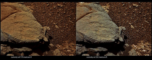 Curiosity sol 179 sol 232 MastCam right