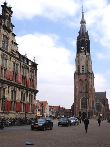 Delft - Nieuwe Kerk and Stadhuis