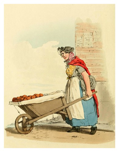 009- Vendedora de fruta- Picturesque representations of the dress and manners of the English-1813-William Alexander