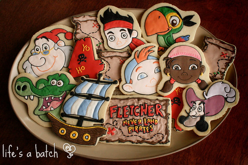 Jake & Neverland Pirates Cookies.