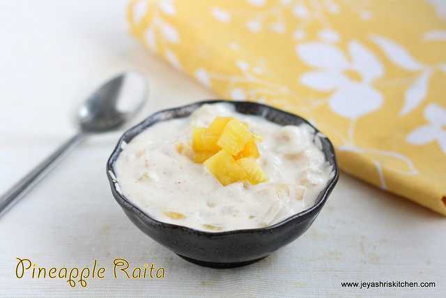 Pinapple raita recipe