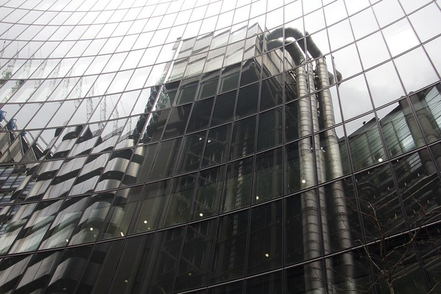 Lloyd's Bank Building Reflected
