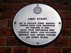 Photo of Abbey Street white plaque