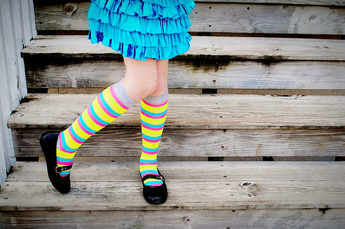 Neon Stripe Socks-72