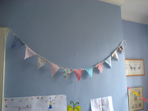 Livvy's made bunting for her room