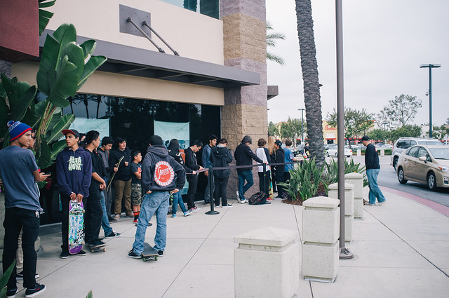 The line went around the whole building!