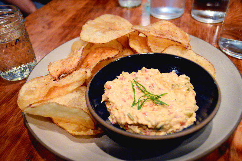 Pimento Cheese and potato chips