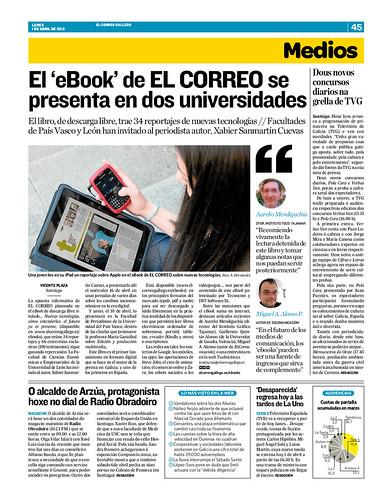 EScomunicación en El Correo Gallego