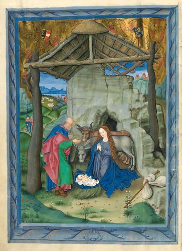 001-Nacimiento de Jesus-Misal de Salzburgo-1499-Tomo 1 -Biblioteca Estatal de Baviera (BSB)