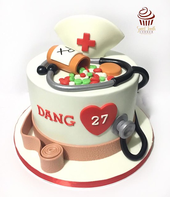 Nurse Themed Cake by Cheri Coronel Cruz of SweetToothCorner by Cheri Cruz