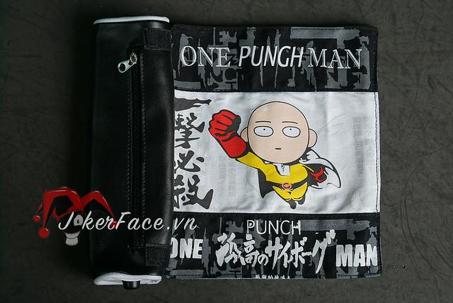 Hộp bút vải cuộn Saitama chibi - One Punch Man