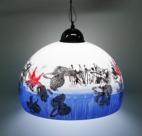 Lampara de Acrilico Colgante Diseño Exclusivo.2/3 de Esfera by Ludica Iluminacion