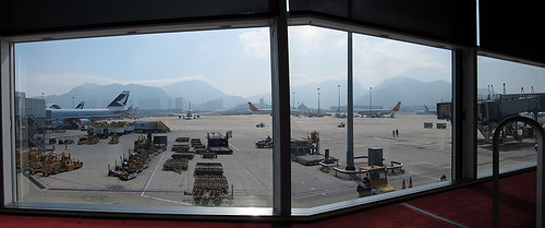 view from the Cabin lounge @ HKG