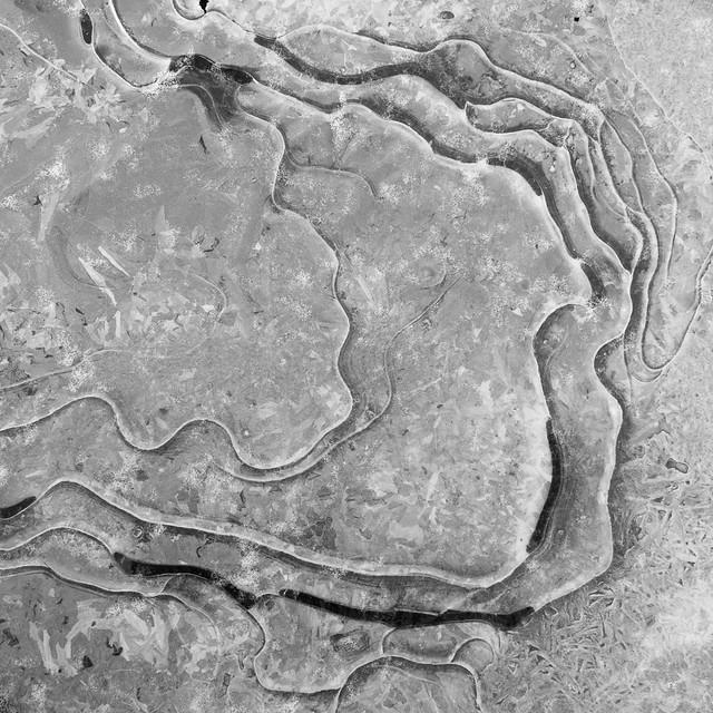Ice in upper Pine Swamp