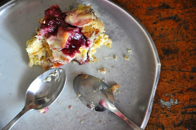 Goat Cheese and Raspberry Bread Pudding