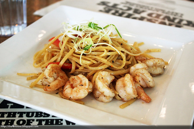 Food for Thought - Garlic Prawns with Capsicum Linguine