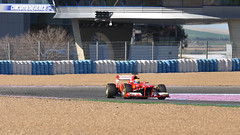 Massa Testing the Ferrari