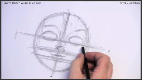 learn how to draw a young girls face 005
