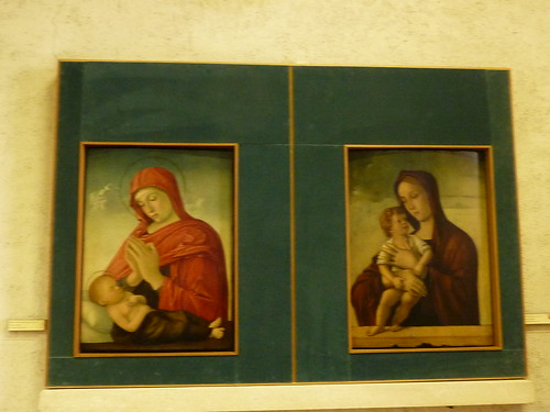 Two pictures of Madonna and Child