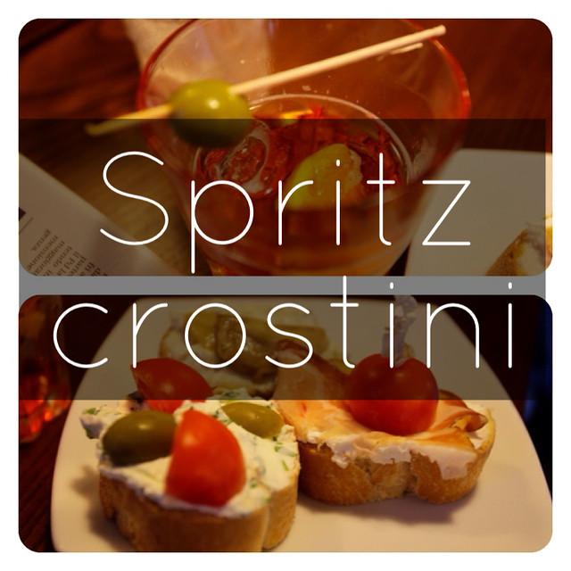 義大利美食:crostini 美酒:Spritz