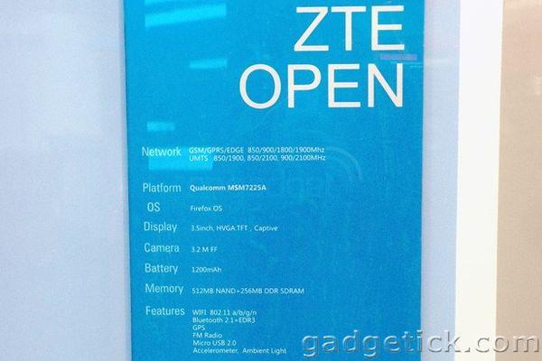 ZTE Open на Firefox OS
