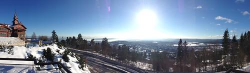Aussicht Holmenkollen Oslo