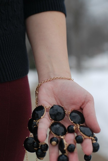 02252013 Black Bubble Necklace