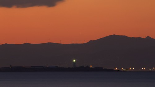 lighthouse sunrise faro amanecer tarifa rif straitofgibraltar estrechodegibraltar جبال rifrange الريف
